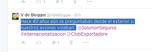 Cual reportera, mis seguidores de Twitter @VdeBlogger, han podido leer en directo las palabras de Bib